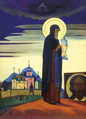 Н.К. Рерих. СВЯТОЙ СЕРГИЙ. 1932