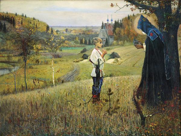 М.В. Нестеров. ВИДЕНИЕ ОТРОКУ ВАРФОЛОМЕЮ. 1889 – 1890