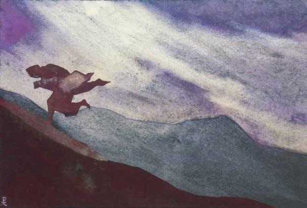 Буря (эскиз к картине). Рерих Н.К. 1937 г.