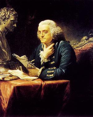 Бенджамин Франклин. Портрет работы Дэвида Мартина. 1767 год