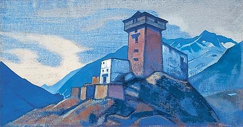 Н.К.Рерих. Гундла. Жилище Такура. 1932