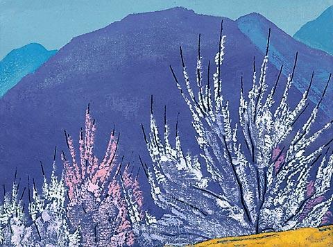 Н.К.Рерих. Этюд к картине «Кришна». Серия «Кулу». 1933