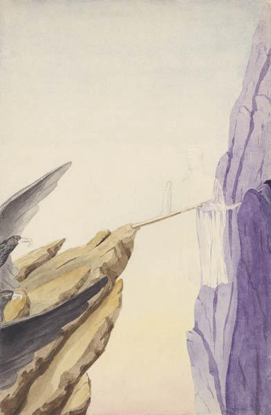 Б.Н.Абрамов. Композиция. 1941. Бумага, акварель. Из архива Н.Д. Спириной