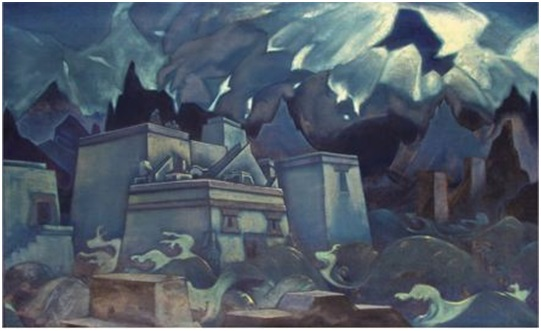 Н. К. Рерих. Гибель Атлантиды. 1928–1929