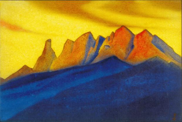 Н.К.Рерих. Гималаи. 1945