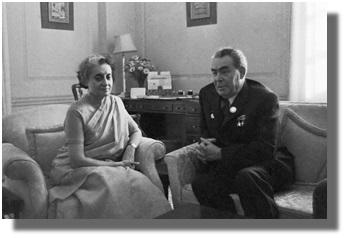 Л.И.Брежнев в Индии, 1973г.