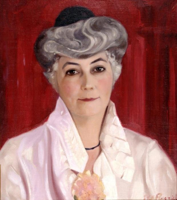 С.Н. Рерих. Портрет Елены Рерих. 1931 (?) г. Музей Николая Рериха, США. Нью-Йорк
