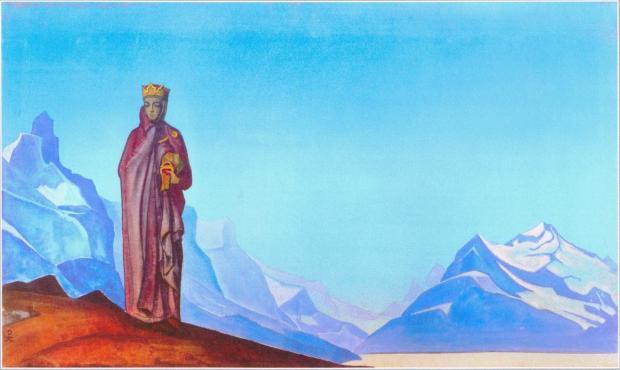 Камень несущая (Держательница Мира).   Н.К. Рерих 1933