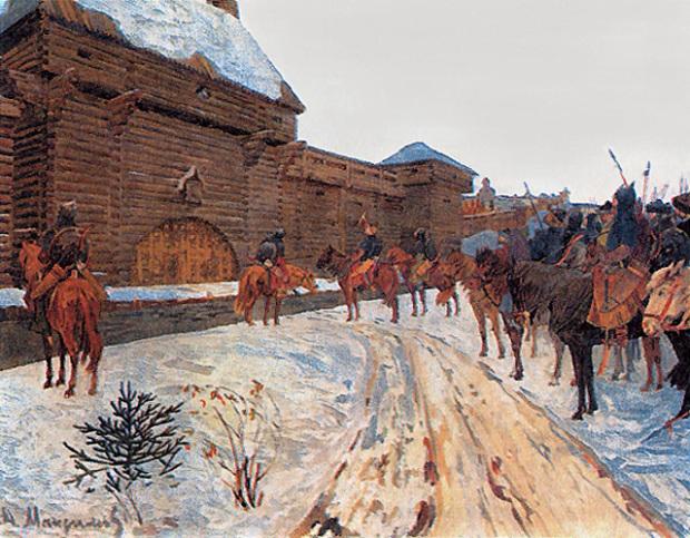 Василий Максимов «Монголы у стен Владимира»
