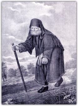 Преподобный Серафим Саровский. Литография 1883 г.