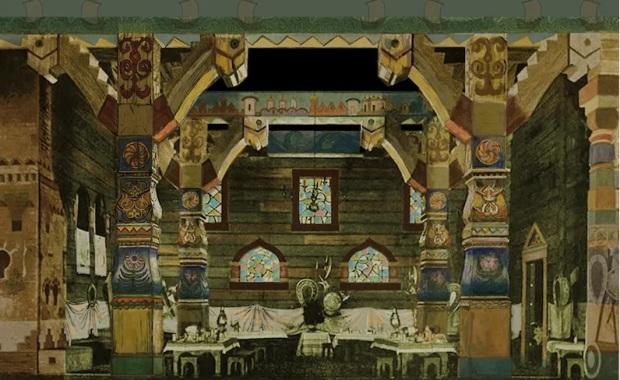Раскрашенная репродукция эскиза декораций к опере «Садко» 1901 года Аполлинария Васнецова Фото Предоставлено пресс-службой Большого театра