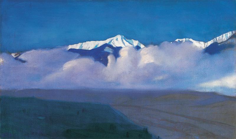 Горы за туманом. С.Н. Рерих. 1935