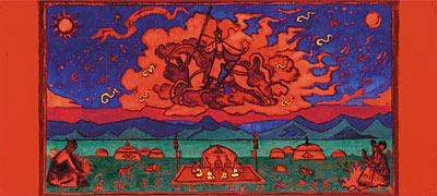 Н.К. Рерих. ГРЯДУЩЕЕ. Эскиз. 1927