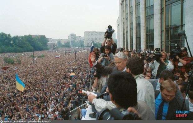 21 августа 1991 года у Белого дома